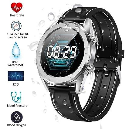 Qimaoo Montre Connectée Homme Femmes Smartwatch Montre Sport Fitness Tracker IP68 GPS Smart Watch avec Cardiofréquencemètre, Tension Artérielle, ...