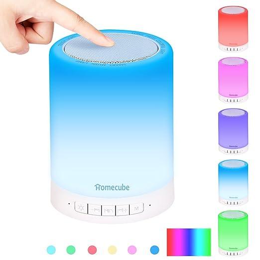 13 opinioni per Lampada da tavolo, Homecube Touch Luce Cambia Colore Altoparlante Bluetooth da
