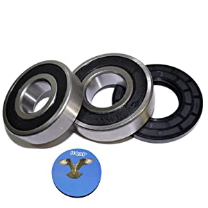 HQRP Bearing and Seal Kit for Frigidaire FWT647GHS0 FWT647GHS1 FWT648GHS0 FWT867GHQ0 FWT867GHS0 FWTB59RGS0 Front Load Washing Machine Washer Tub + HQRP Coaster