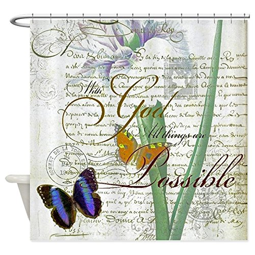 CafePress - All Things Are Possible - Decorative Fabric Shower Curtain (69''x70'') by CafePress