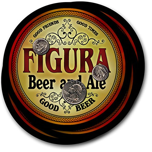 Figuraビール& Ale – 4パックドリンクコースター   B003QXTN42