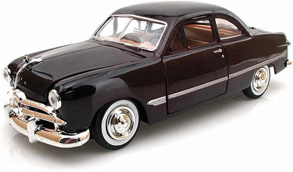 1949 Ford Coupe, Burgundy - Motormax Premium American 73213 - 1/24 Scale Diecast Model Car