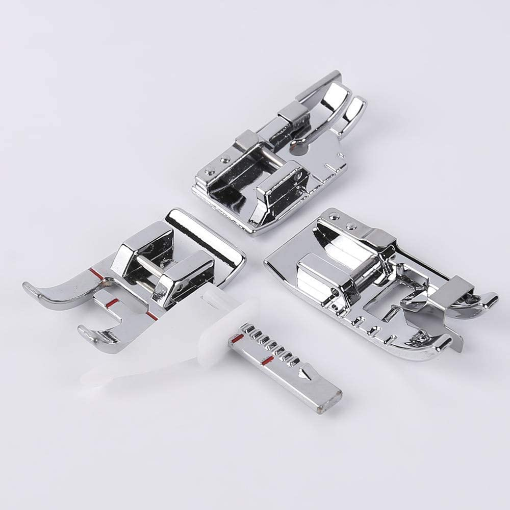 PannySewCraft Pack of Adjustable Guide Sewing Machine Presser Foot,1//4Quilting Patchwork Foot and Stitch in Ditch Foot.Fits for Low Shank Domestic Sewing Machine Babylock Singer Snapping On Brother
