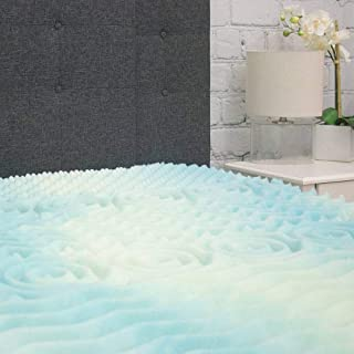 product image for Beautyrest Mattress Topper - 5 Zone Convoluted Temperature Regulating Memory Foam Mattress Pad - Egg Crate Mattress Toppers - 1.8 lb Density for High Support and High Response - Made In USA - Twin XL