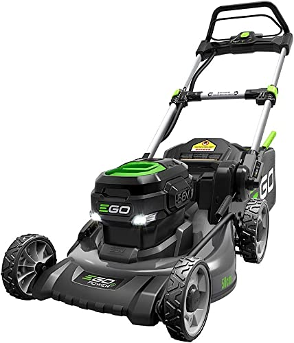 EGO Power LM2021 20-Inch 56-Volt Lithium-ion Cordless Battery Walk Behind Push Mower with Steel Deck – 5.0 Ah Battery and Charger Included