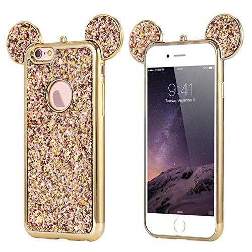 131dbffdcad Apple iPhone 5   5s   SE Rhinestone Mouse Ears Design Cover Chrome Bumper Bling  Sparkle