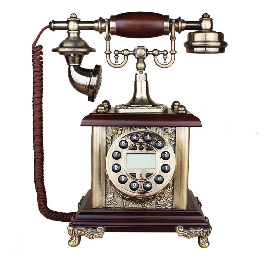 固定電話/ヨーロッパの家レトロ電話/ヴィンテージアンティーク電話/木製電話/ヨーロッパの電話家固定レトロ電話レトロアンティーク24 * 19 * 31 cm (三 : Hands-free models) B07J696TX6 Ordinary paragraph