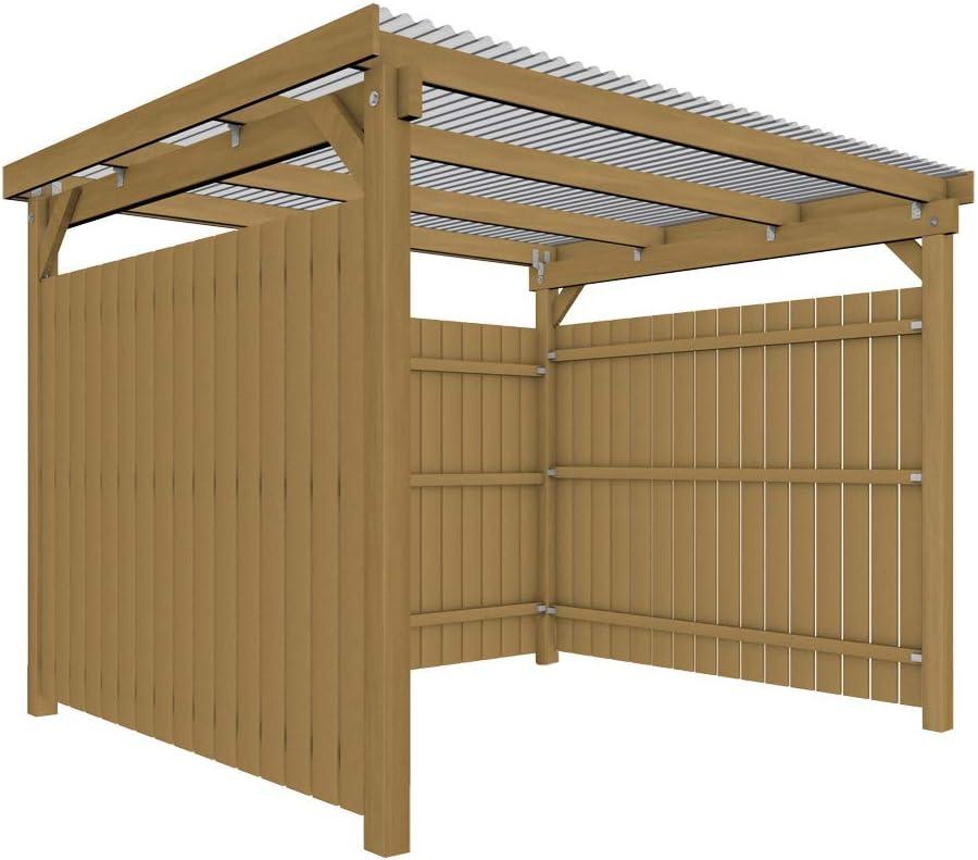 GHS Refugio de 3 x 2, 5 m überdachung con cubierta lateral, Jardín ...