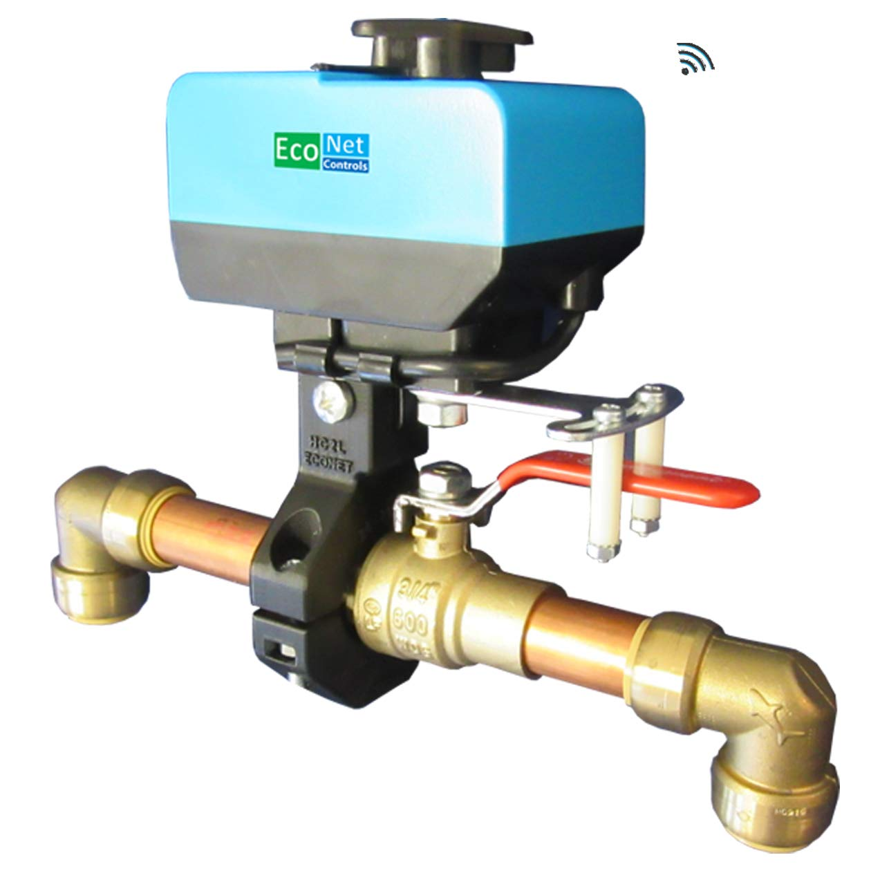 EcoNet Controls EVC200-HCSML The Bulldog Valve Robot, Z-Wave Water Valve, Smart Home Friendly, Easy to Install and No Plumbing Required, for Valves up to 1.5''