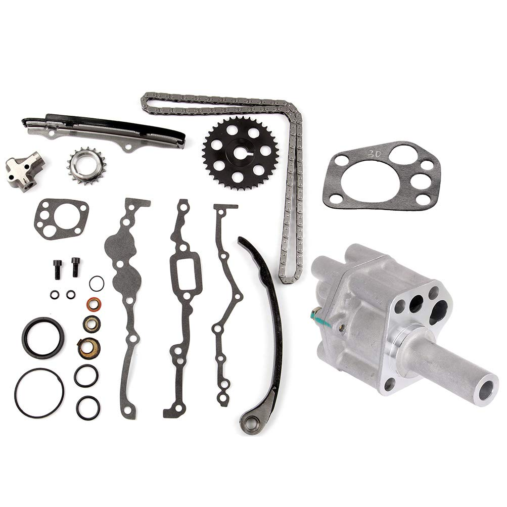 INEEDUP Timing Chain Kit Oil Pump Fit for 1995-1997 Nissan Pickup1990-1994 Nissan D21