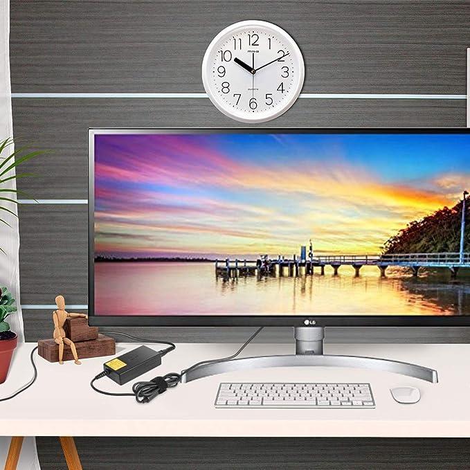KFD 19V 2.53A Adaptador de Corriente Cargador para LG 20 22 23 24 27 LED LCD HDTV Monitor Widescreen Samsung TV ADS-40FSG-19 27UD68 27MK400H-B A4819-FDY Flatron IPS236V IPS236-PN UN32J4000: Amazon.es: Electrónica