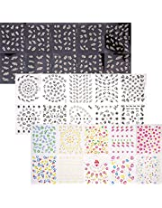 LUTER 30 Sheets 3D Design Nail Stickers Self-adhesive Nail Art Stickers Decals Various Flowers Butterfly Lace