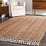 Hand Woven Fringe Area Rug