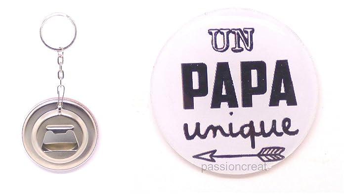 7a054b158414 Un Porte Clé Décapsuleur 56mm  quot  Papa quot  Cadeau Fêtes des pères,  Anniversaire,