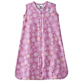 Halo Innovations SleepSack Wearable Blanket Cotton Graphic Flower, Pink, White, Large