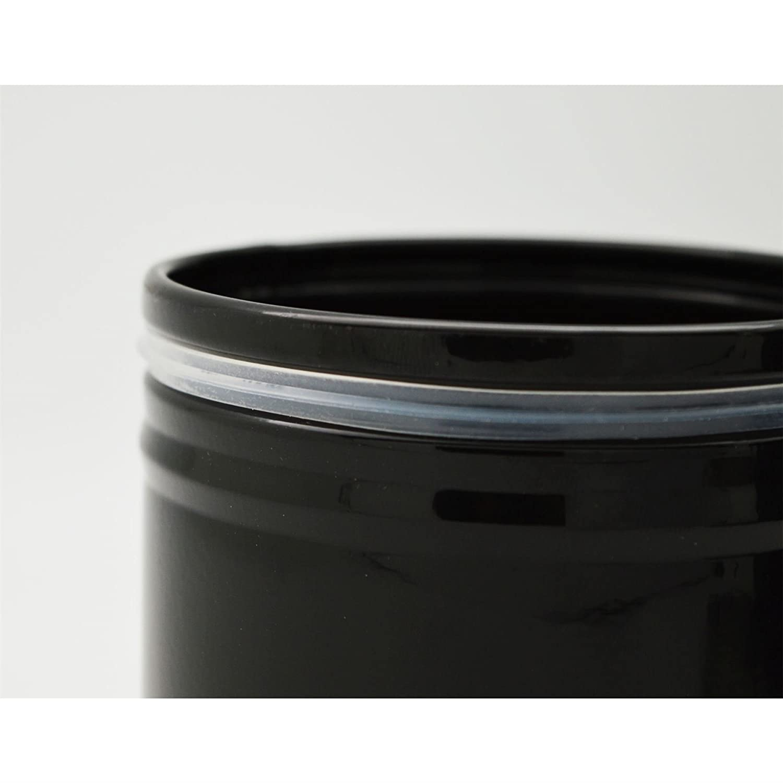 Harbour Housewares Bo/îte /à th/é m/étallique Couleur Noir