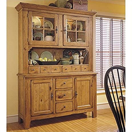 Broyhill Attic Heirlooms China Base And Hutch In Natural Oak Stain