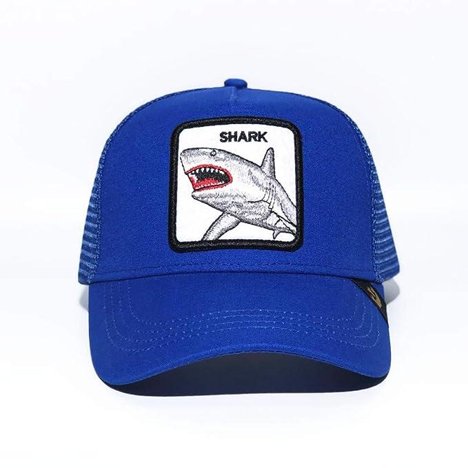 sdssup Carpintero Sombrero Bordado Gorra De Malla Azul Tiburón ...