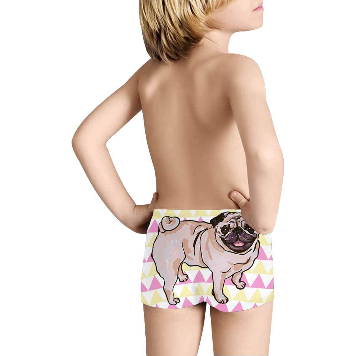 INTERESTPRINT Kids Funny Pug Comfortable Breathable Briefs 5T-2XL