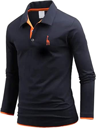 Polo de algodón con capas para hombre, diseño de jirafa, estilo ...