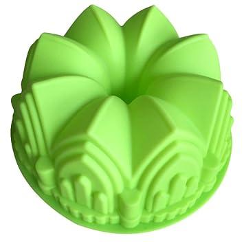infaye cumpleaños Cake Pan Tart lata de flan molde de silicona para horno (castillo): Amazon.es: Hogar