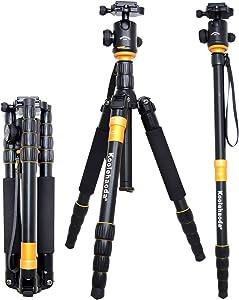 Koolehaoda K-666 Aluminum SLR Camera Tripod Monopod & Ball Head Portable Compact Travel for SLR Camera Canon Nikon Petax Sony Tripod Max Load: 15kg