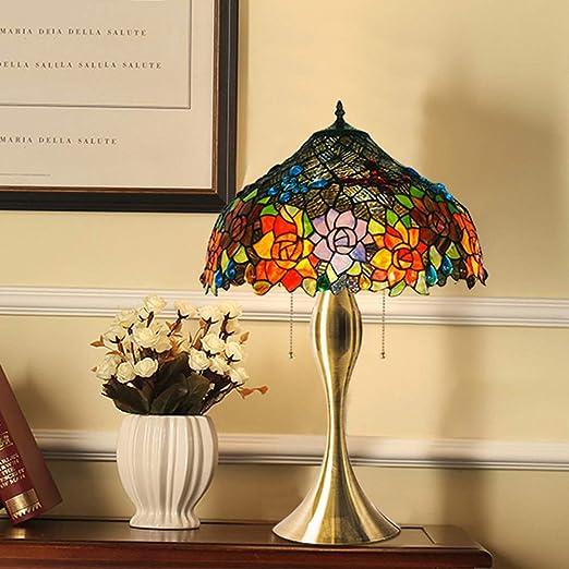 Lámpara de mesa grande de estilo Tiffany, clásica y elegante ...