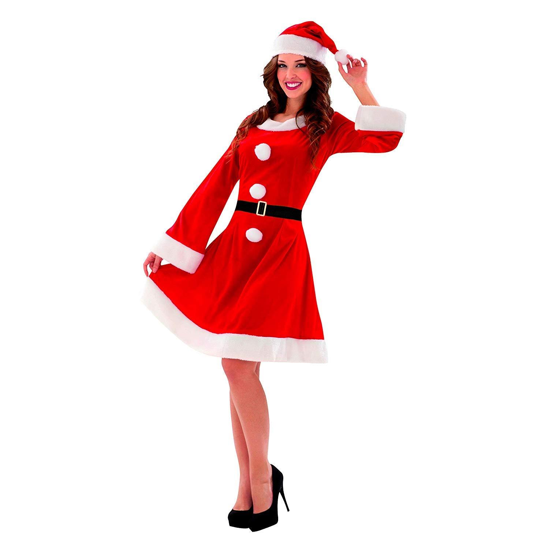 Disfraz de Mama Noel con Vestido, Gorro y Cinturón para ...