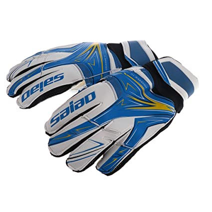f5f80292b MonkeyJack Youth THICKENED Soccer Goalie Goalkeeper Gloves, Pro Football  Finger Saver for CHILDREN Size 6