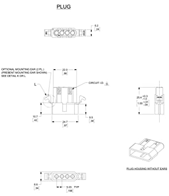 14 20 Awg 093 Pins Panel