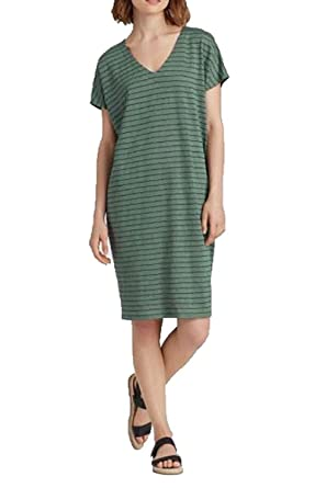f808536054 Eileen Fisher Organic Linen Stripe Easy Dress at Amazon Women s Clothing  store