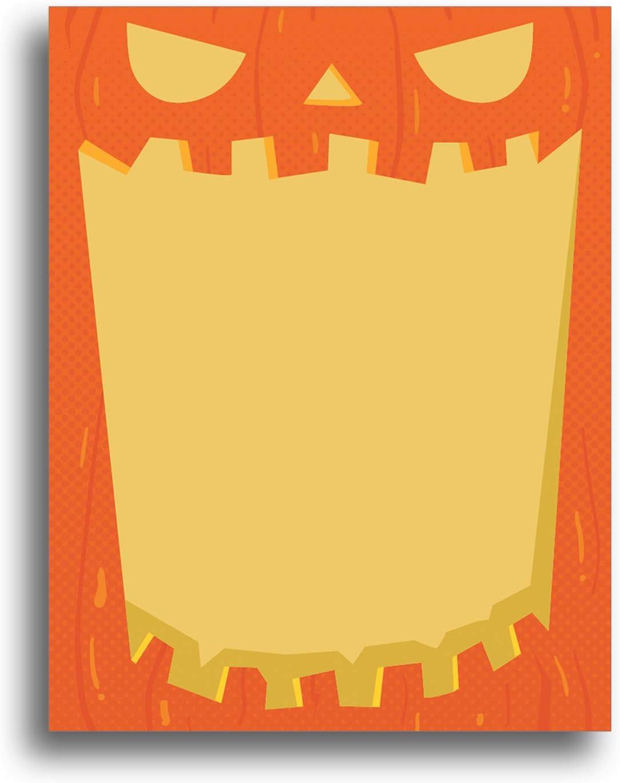 80 Sheets Jack-O-Lantern Halloween Fall Stationery Paper