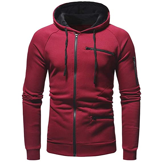 Male Solid Long Sleeve Zipper Autumn Winter Warm Down Outwear Men Stand Collar Jacket Coat
