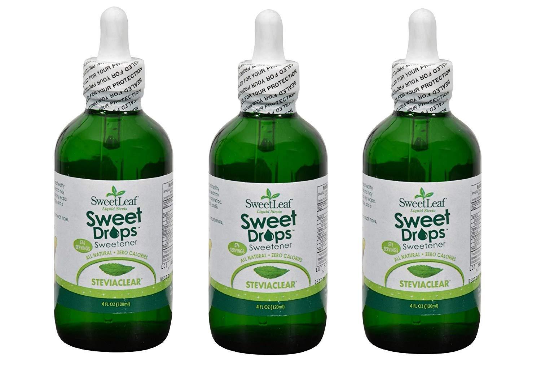 SWEETLEAF STEVIA SteviaClear Liquid Extract 4 OZ (Set of 3) by SweetLeaf (Image #1)