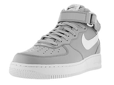 a0664f0723ff4 Nike Men s Air Force 1 Mid 07 Basketball Shoe Waolf Grey/White 9 D(M ...