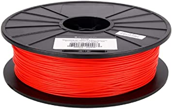 Monoprice Premium 3D Printer Filament 1kg//spool PLA 1.75mm Thick For High Accuracy And High Resolution Red