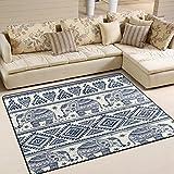 ALAZA Vintage Elephant Tribal Area Rug Rugs for Living Room Bedroom 7′ x 5′ For Sale