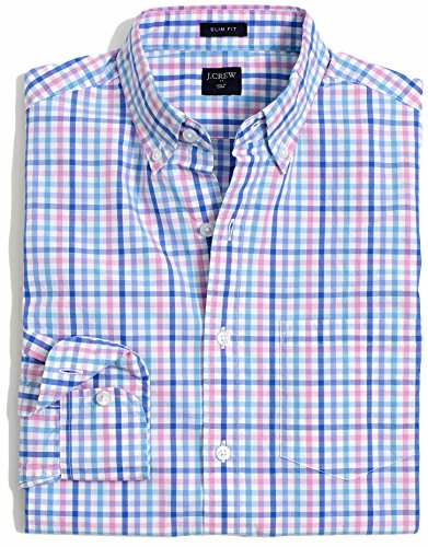 J.Crew - Men's - Slim-Fit Long-Sleeve Shirt (Solid & Print Options/Multiple Sizes) (Medium, Pastel Multi)