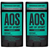 Art of Sport Men's Deodorant (2-Pack) - Victory Scent - Aluminum Free Deodorant for Men with Natural Botanicals Matcha and Ar