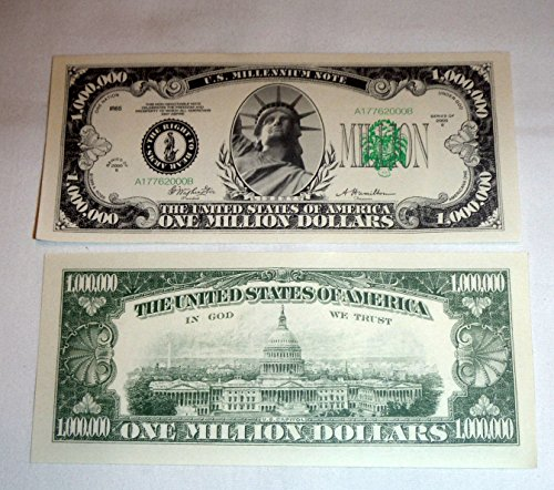 Traditional One Million Dollar Bill - Single