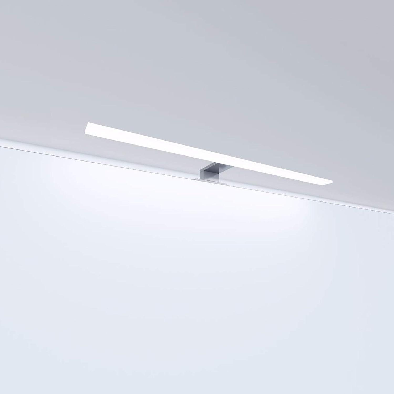 LED Badleuchte Badlampe Spiegellampe Spiegelleuchte Schranklampe Aufbauleuchte, Farbe:tageslichtweiss, Länge:600mm [Energieklasse A++] Länge:600mm kalb Material für Möbel