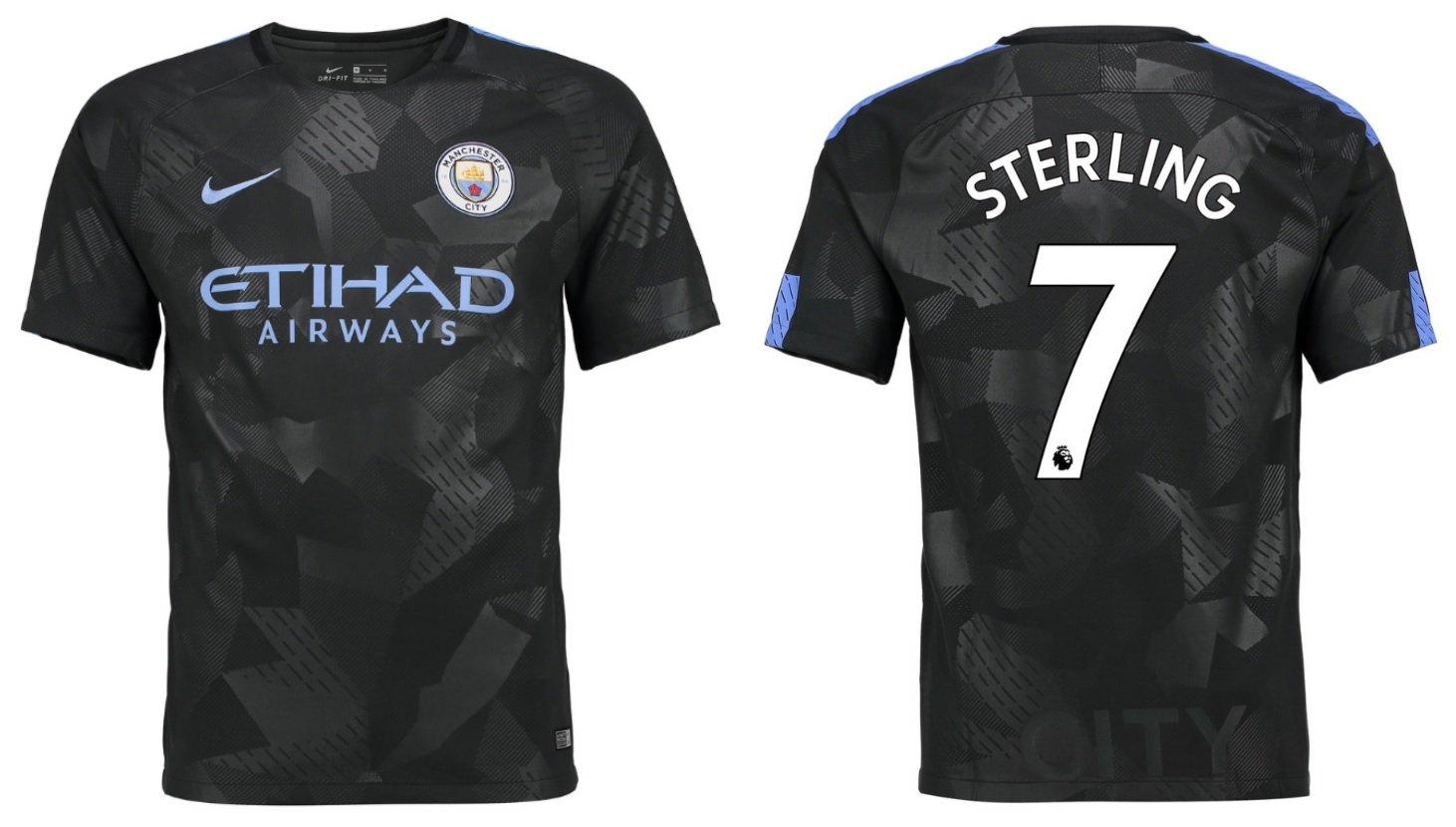 Trikot Kinder Manchester City 2017-2018 Third - Sterling 7