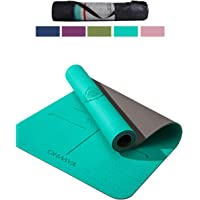 Yoga Mat Fitness Mat Eco Friendly Material Sgs Certified Ingredients TPE Specifications 72'' x 24'' Thickness 1/4-Inch Non-Slip Extra Large Yoga Mat with Carry Strap and Carry Bag