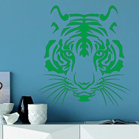 zqyjhkou Tiger Head Animal Pattern Pegatinas de Pared para Sala de ...