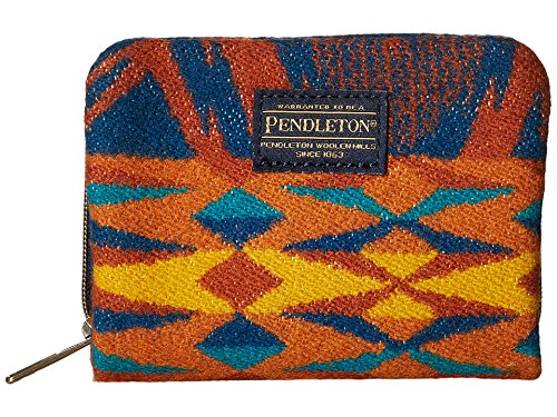 Pendleton Woolen Mills Womens Pendleton Wool Mini Accordion Echo Peaks Wallet Blue