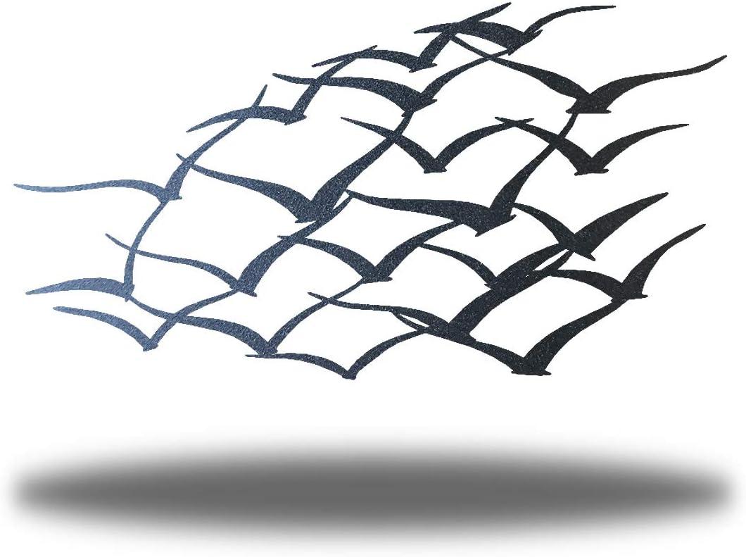 Riverside Designs Flock of Birds Metal Art Steel Wall Decor (36