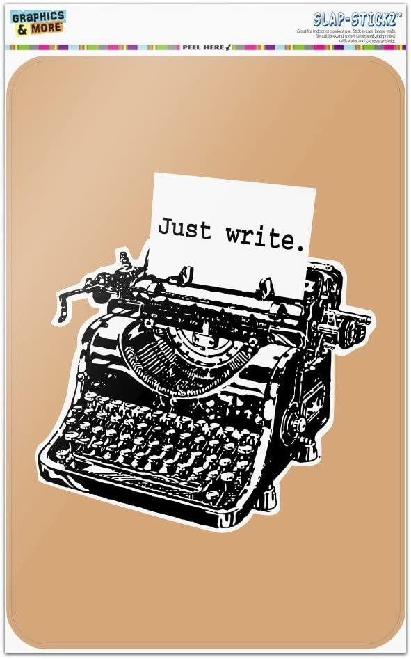 GRAPHICS & MORE Just Write Antique Typewriter Writer Author Home Business Office Sign
