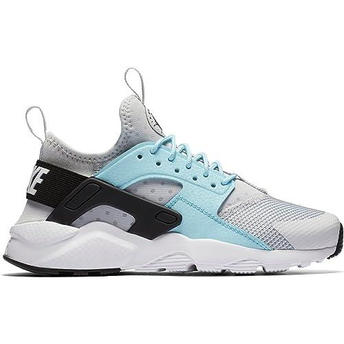 Zapatillas Nike - Air Huarache Run Ultra (GS) Plateado/Azul/Negro Talla: 35,5: Amazon.es: Zapatos y complementos