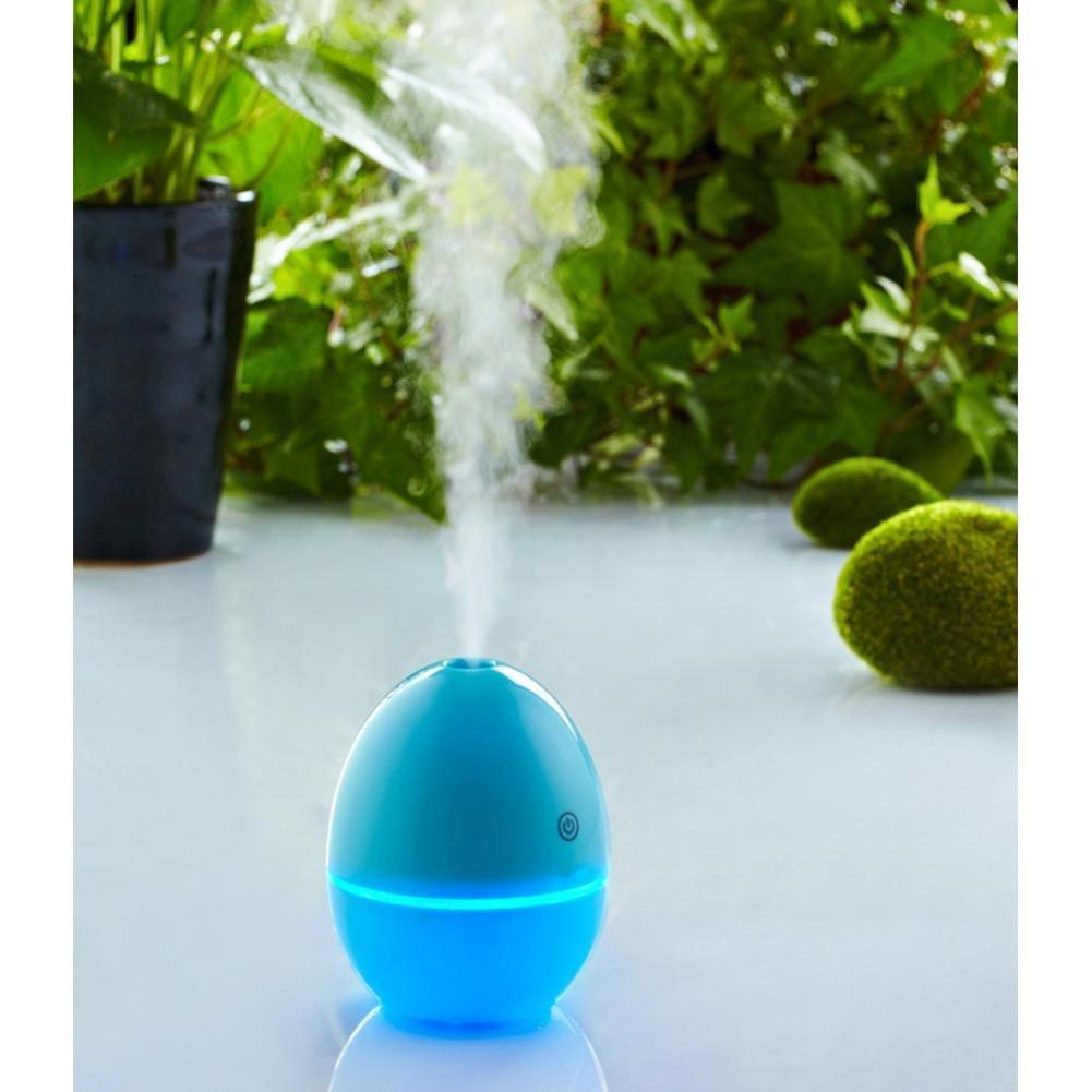 Mini Luftbefeuchter,KIMODO 400ML Grapefruit-Shaped Befeuchter Silent Mini Fruit Befeuchter Portable Zerstäuber für Office Auto und Zimmer (Blau)