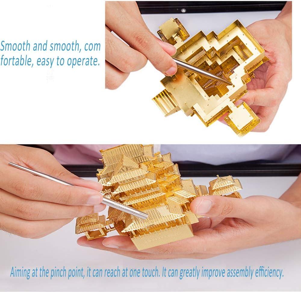 Metal Models Kits 6Pcs DIY 3D Metal Model Tool Sets Tacroney Professional Jigsaw Puzzles Metal Model Kits Multi-Function Assembling Bending Assist Tools Perfect for 3D Metal Puzzle Earth Model Tools